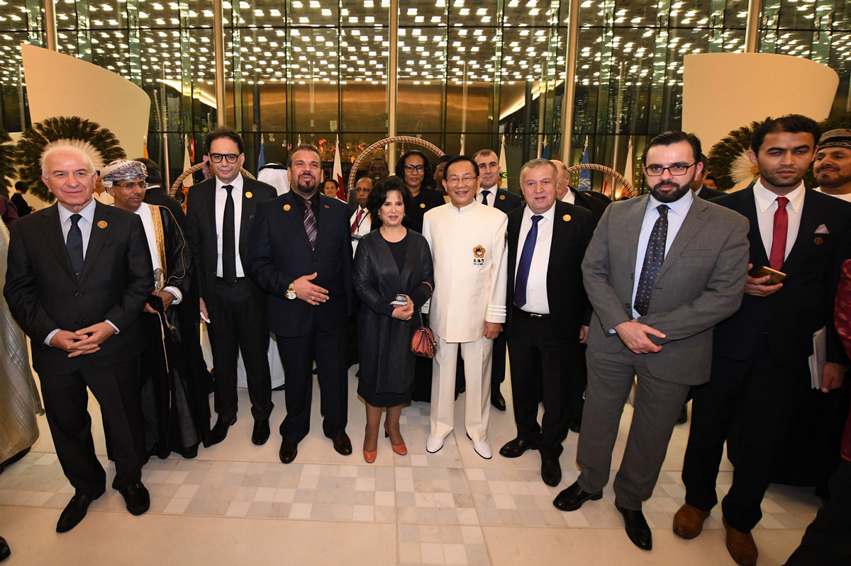 The ceremony of ringing the Bell of World Peace and Love attracted culture ministers and other distinguished guests from different counties
